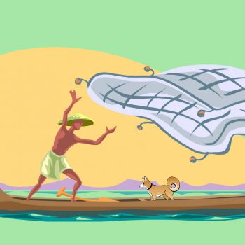 nelayan dan anjing